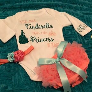 0aaa9af3b handmade Matching Sets | Step Aside Cinderella Baby Outfit Size 36 ...